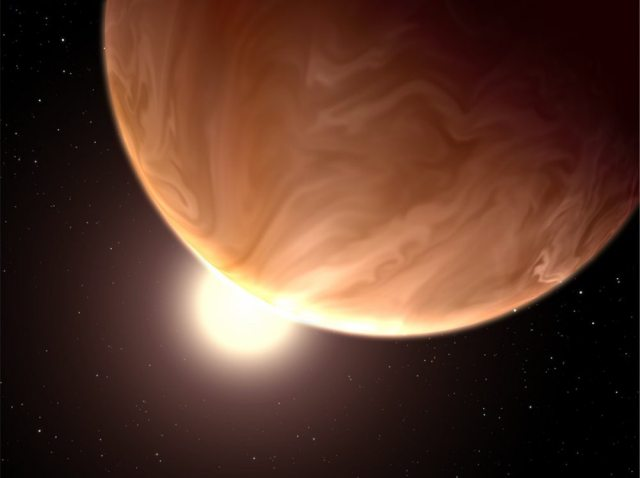 An artist's rendering of GJ 1214b. Image courtesy NASA.